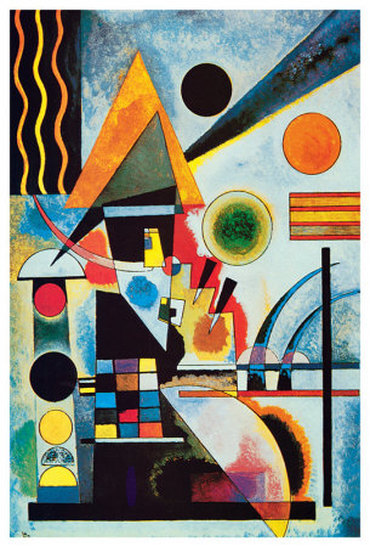 Kandinsky and variety weiner elementary for Artists who use shapes in their paintings